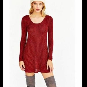 BDG Urban Outfitters Knit Sweater Dress Red- XS